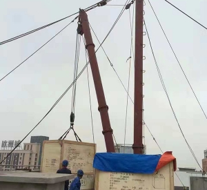 高层人工扒杆吊装