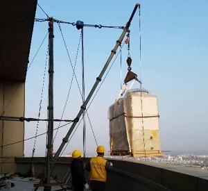 高层扒杆吊装施工